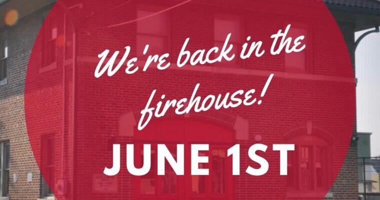 Studio Classes Return June 1st
