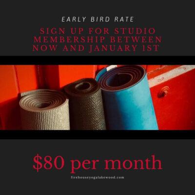 Studio Membership – Early Bird Rate
