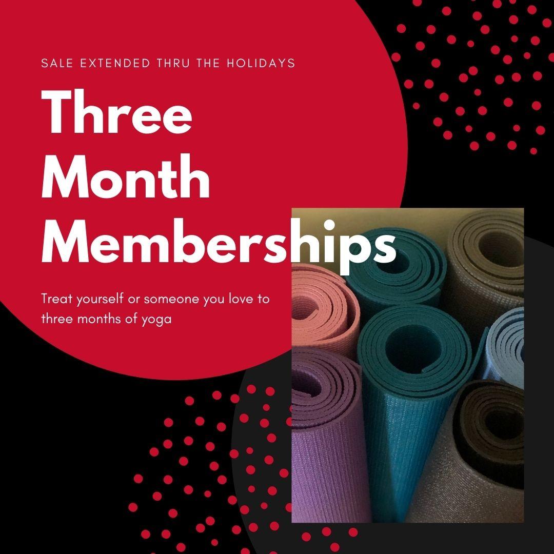 Three-Month Memberships